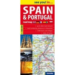 Spain & Portugal - road map 1:1000 000
