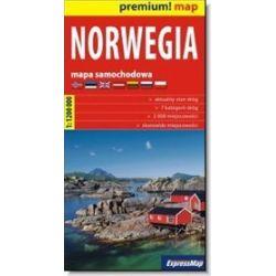 Norwegia - mapa samochodowa 1:1 200 000