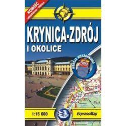 Krynica-Zdrój i okolice - kieszonkowy laminowany plan miasta w skali 1: 15 000