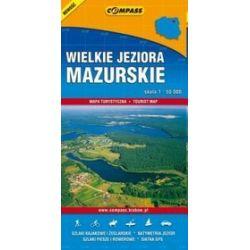 Wielkie jeziora mazurskie - mapa w skali 1 : 50 000
