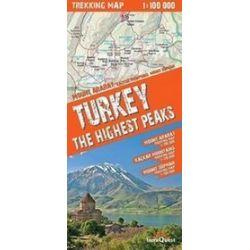 Turkey The Highest Peaks - trekking map 1:100 000