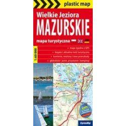 Wielkie Jeziora Mazurskie - foliowana mapa turystyczna 1:60 000