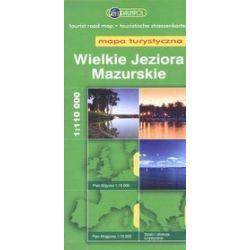 Wielkie Jeziora Mazurskie. Mapa turystyczna w skali 1:110 000