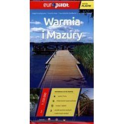 Warmia i Mazury. Foliowana mapa turystyczna w skali 1:250 000