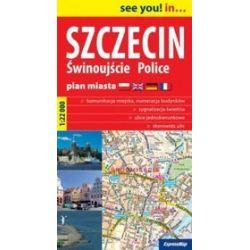 Szczecin, Świnoujście, Police 1:22 000 - papierowy plan miasta