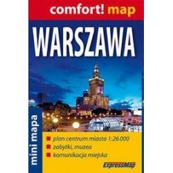 Warszawa - laminowany plan miasta 1:26 000 ? mapa miniaturowa