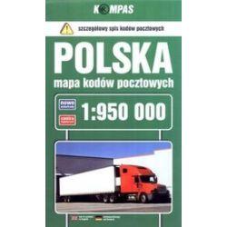 Polska. Mapa kodów pocztowych 1:950 000
