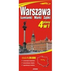Warszawa 4w1 - papierowy plan miasta w skali 1: 26 000