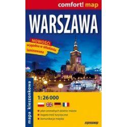 Warszawa - kieszonkowy Plan Miasta w skali 1:26 000