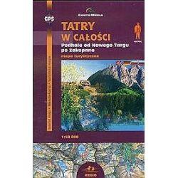 Tatry w całości: Podhale od Nowego Targu po Zakopane. Mapa turystyczna