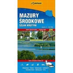 Mazury - Część Środkowa - Szlak Krutyni - mapa turystyczna