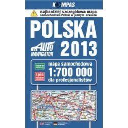 Polska. Mapa samochodowa dla profesjonalistów