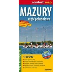 Mazury - część południowa - laminowana mapa turystyczna 1:60 000