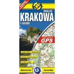 Okolice Krakowa - mapa turystyczna w skali 1: 50 000