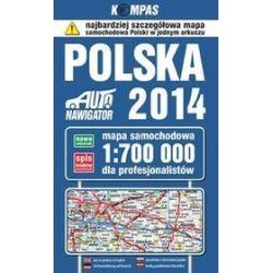 Polska 2014. Mapa samochodowa dla profesjonalistów 1:700 000