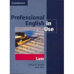 Język angielski. Professional English in Use Law. Wydanie z kluczem, szkoła wyższa