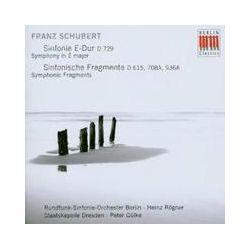Musik: Sinfonie E-Dur/Sinf.Fragmente  von Rögner, Gülke, Rsb, SD