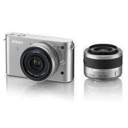 Nikon 1 J1 Mirrorless Digital Camera with 10mm WA/10-30mm 27565