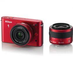 Nikon 1 J1 Mirrorless Digital Camera with 10mm WA/10-30mm 27567