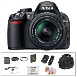 Nikon D3100 Digital SLR Camera with 18-55mm VR Lens and Deluxe