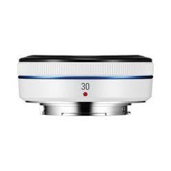 Samsung 30mm f/2.0 NX Pancake Lens (White) EX-S30ANW/US B&H