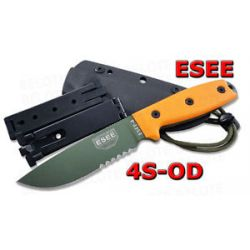 ESEE Model 4 OD Green Bld Serrated Kydex Sheath 4S OD