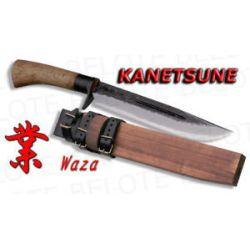 Kanetsune Seki Waza Damascus Knife w Sheath KB 116 New