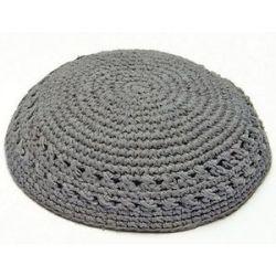 Jewish Gray Knitted Thick Kippah Yarmulka Hat Yamaka