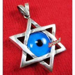 Star of David Evil Eye Protection Pendant Judaica Jewelry Gift