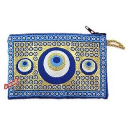 Coin Purse with Evil Eyes Prosperity Good Fortune Against Evil Eye