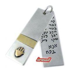 Silver Gold Kabbalah Hamsa Protection Pendant Blessing Healing ANA Bekoach