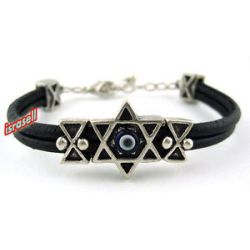 Star of David Bracelet with Blue Evil Eye Protection Jewish Gift Judaica