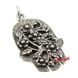 925 Sterling Silver Hamsa Hand Pendant Made in Israel Protection Luck