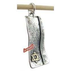 925 Sterling Silver Gold Jewish Star of David Pendant Hand Made in Israel