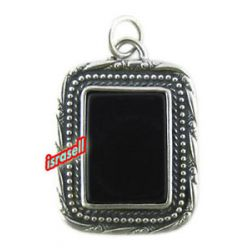 925 Sterling Silver Black Onyx Seven Blessings Pendant from Israel Hand Made