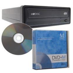 M Disc CD DVD Media External Burner Writer Drive w Blank Mdisc Bulk 20 Pack