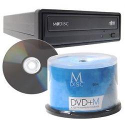Permanent File Backup M Disc DVD External Burner Drive Writer Blank Mdisc 50pk