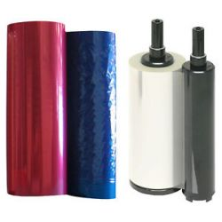 1 Color CMYK Ribbon 1 Transfer Roll for Discmaster w Teac P 55 Thermal Printer