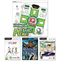 FITNESS PACK 2011 - mata DANCE + 3 gry (PC Fit, Mój Fitness, Dance Party) (PC) CD-ROM