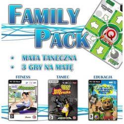 Family Pack - mata DANCE + 3 gry (Mój Fitness, Dance Party Jest Imprezka, Miś Hubert - Wakacyjna Wyspa) (PC) CD-ROM