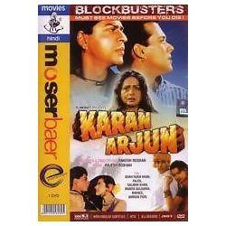 Karan Arjun Shahrukh Khan Salman Khan Kajol Bollywood Hindi DVD