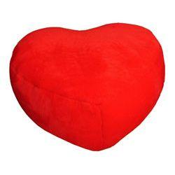 Pufa serce wypełniona granulatem
