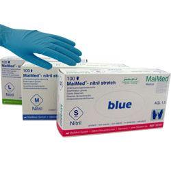 MAIMED nitryl stretch blue - rękawice nitrylowe (bezpudrowa,niebieska)