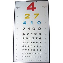 Tablica okulistyczna cyfrowa 4 obraz prosty - kolor.