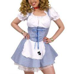 sexy Dirndl Heidi Trachten Kleid Damen Kostüm Karneval Oktoberfest 42 - 44