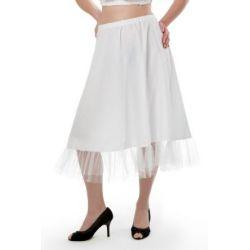 weißer oder schwarzer Trachten Petticoat Unterrock 70 cm knielang, Tüllrock Trachten Unterrock für Dirndl, Trachtenmode, Dirndlkleid, Trachtenkleid. Midi Dirndl