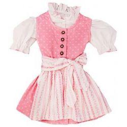 Kinder Dirndl mit Bluse Anni rosa