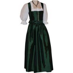 Gr.34-50 Dirndl Festtracht Trachten-Kleid Trachtenkleid Dirndlkleid Taft grün