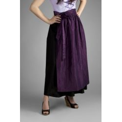 Dirndlschürze lang lila 96 cm taft , Trachten Schürze Viola ,Trachtenmode für Damen
