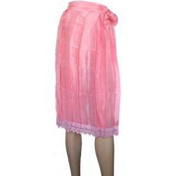 Lange Dirndlschürze Lange Schürze Trachtenschürze in der Farbe Rosa